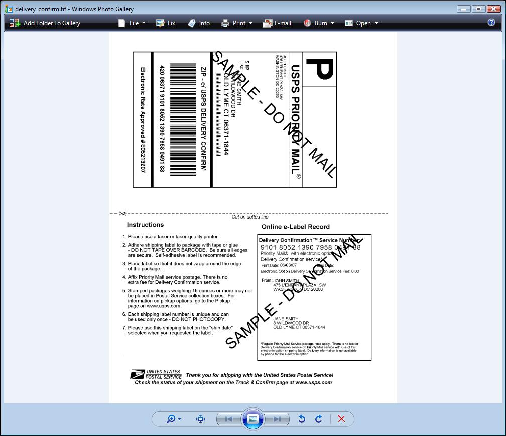 Tracking number formats - 3 Print A Shipping Label For The Package