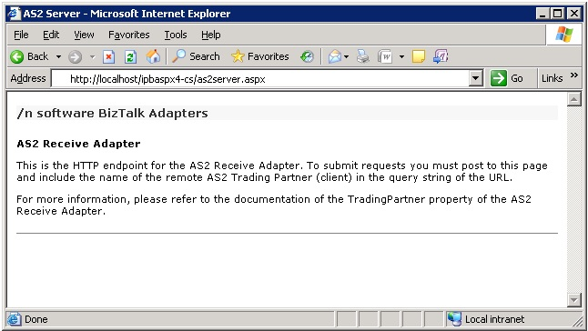 AS2 Adapter for Microsoft BizTalk
