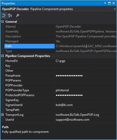 OpenPGP Pipeline Component for Microsoft BizTalk